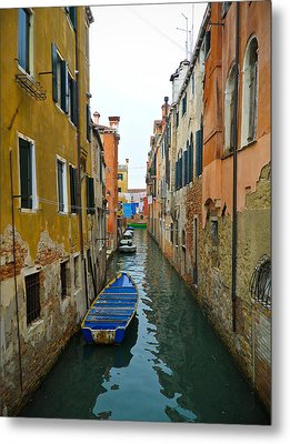 Metal Print featuring the photograph Venice Canal by Silvia Bruno