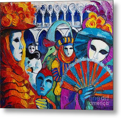 Venice Carnival Metal Print