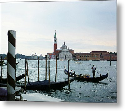 Venice Evening Last Gondola Ride Metal Print by Irina Sztukowski
