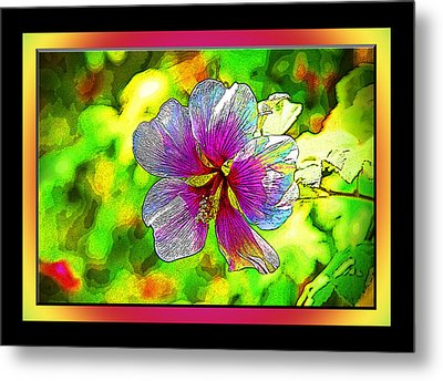 Venice Flower - Framed Metal Print