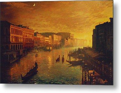 Venice From The Rialto Bridge Metal Print by Blue Sky