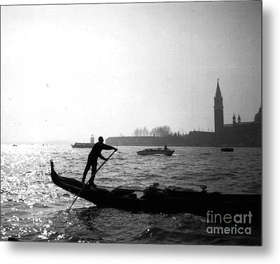 Venice Gondola Metal Print by Rita Brown