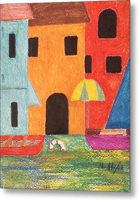 Venice In Pastel Metal Print by Lew Griffin