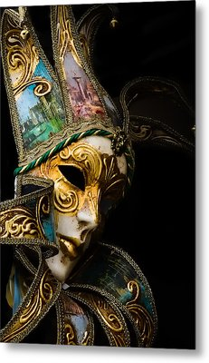 Venice Italy - Carnival Mask Metal Print