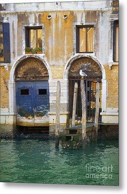 Venice Italy Double Boat Room Metal Print
