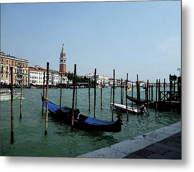 Venice Italy Gondola View On Doge Palace Metal Print