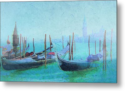 Venice Italy Gondolas With San Giorgio Maggiore Metal Print by Douglas MooreZart