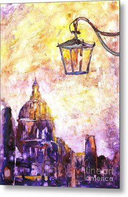 Venice Italy Watercolor Painting On Yupo Synthetic Paper Metal Print by Ryan Fox