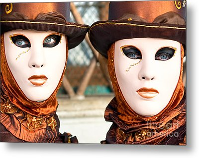 Venice Masks - Carnival. Metal Print by Luciano Mortula