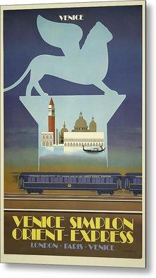 Venice Orient Express Metal Print
