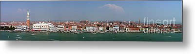 Metal Print featuring the photograph Venice Panorama by Art Photography