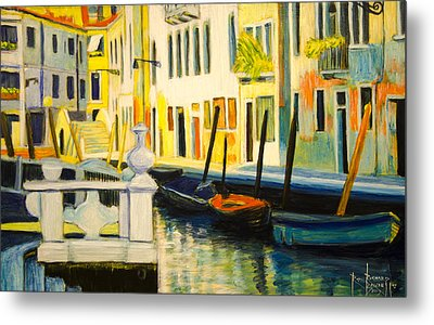 Venice Remembered Metal Print by Ron Richard Baviello