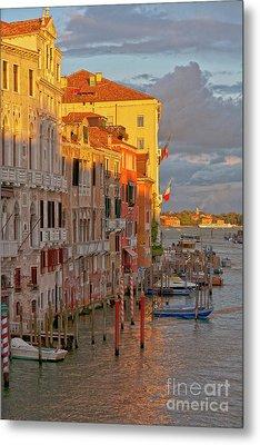 Venice Romantic Evening Metal Print by Heiko Koehrer-Wagner