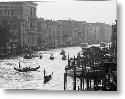 Metal Print featuring the photograph Venice Grand Canal by Silvia Bruno