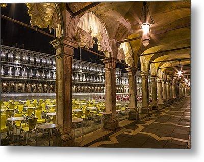 Venice St Mark's Square At Night Metal Print