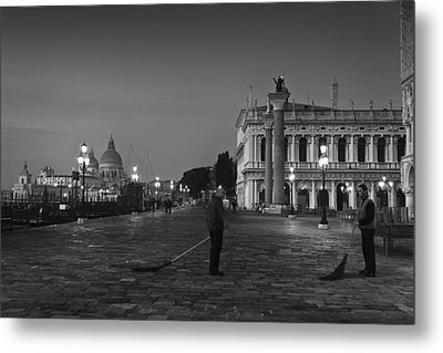Venice Sweepers Metal Print by Marion Galt