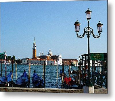 Venice View On Basilica Di San Giorgio Maggiore Metal Print by Irina Sztukowski