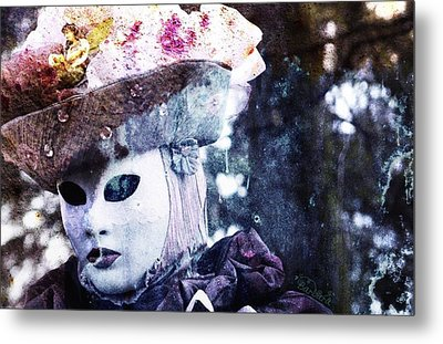 Metal Print featuring the photograph Venitian Carnival - I Love Mystery by Barbara Orenya