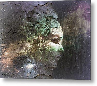 Metal Print featuring the digital art Venitian Carnival - The Shimmering Lady by Barbara Orenya