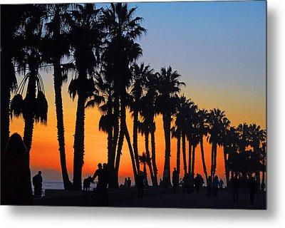 Metal Print featuring the photograph Ventura Boardwalk Silhouettes by Lynn Bauer