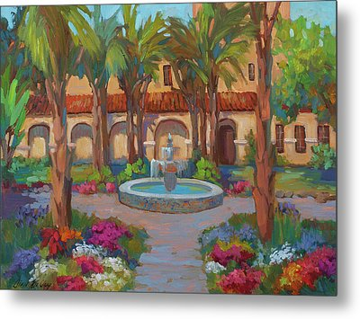 Ventura Mission Metal Print by Diane McClary