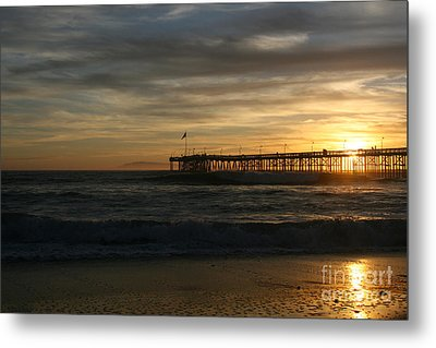 Ventura Pier 01-10-2010 Sunset  Metal Print