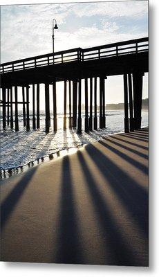 Metal Print featuring the photograph Ventura Pier Shadows by Kyle Hanson