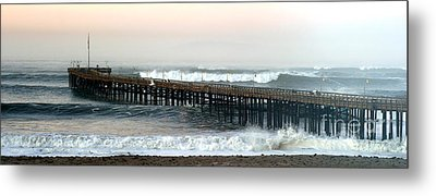 Metal Print featuring the photograph Ventura Storm Pier by Henrik Lehnerer