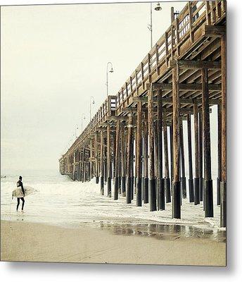 Ventura Surfer  Metal Print by Bree Madden