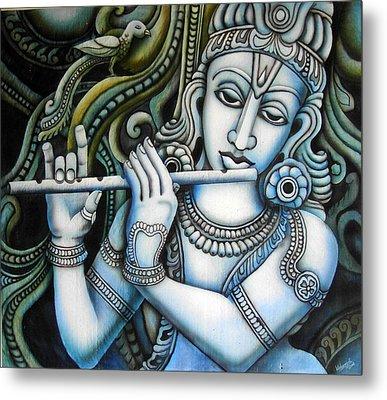 Venugopala Metal Print by Vishwajyoti Mohrhoff