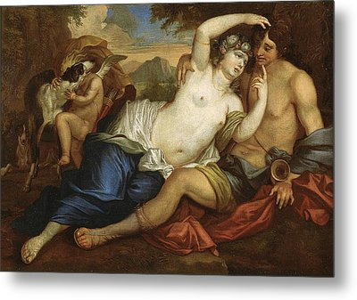 Venus And Adonis Metal Print by Jan Boeckhorst