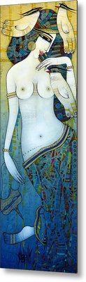 Venus With Doves Metal Print