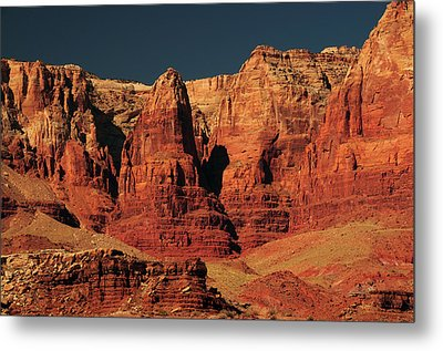 Vermilion Cliffs In The Morning, Lee's Metal Print by Michel Hersen