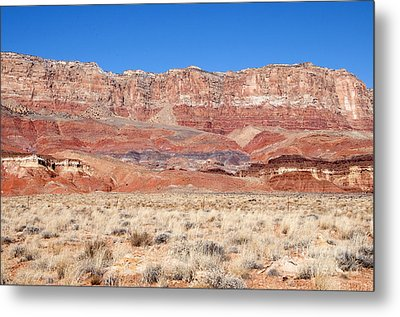 Metal Print featuring the photograph Vermillion Cliffs Colors by Bob and Nancy Kendrick