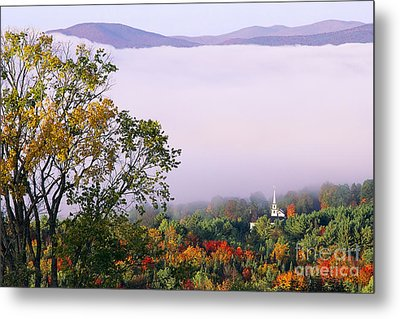 Metal Print featuring the photograph Vermont Autumn Morning by Alan L Graham