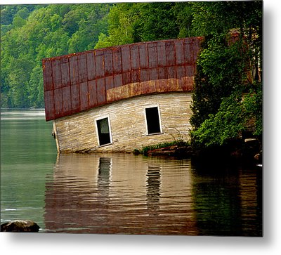 Metal Print featuring the photograph Vermont Boathouse by John Haldane