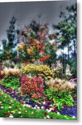 Vermont Fall Garden Metal Print