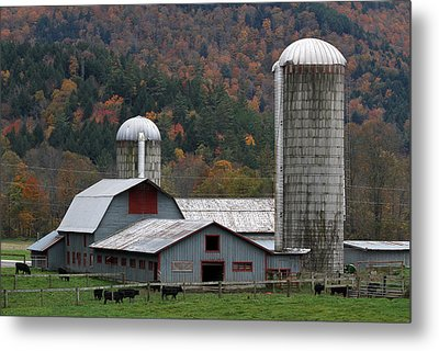 Vermont Farm Metal Print by Juergen Roth