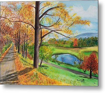 Vermont In The Fall Metal Print