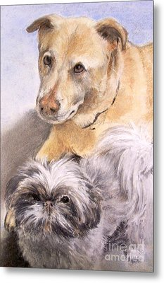 Metal Print featuring the painting Vern And Molly by Mary Lynne Powers