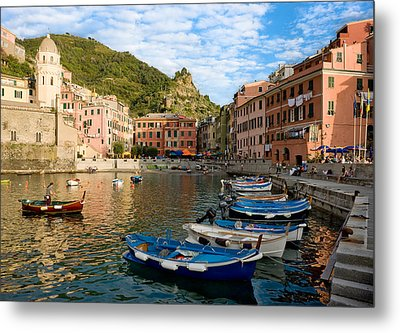 Metal Print featuring the photograph Vernazza Boatman - Cinque Terre Italy by Carl Amoth