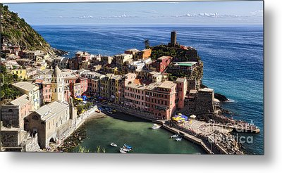 Vernazza From Above Metal Print by George Oze