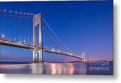 Verrazano Bridge Before Sunrise  Metal Print