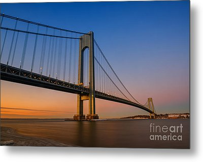 Verrazano Bridge Sunrise  Metal Print