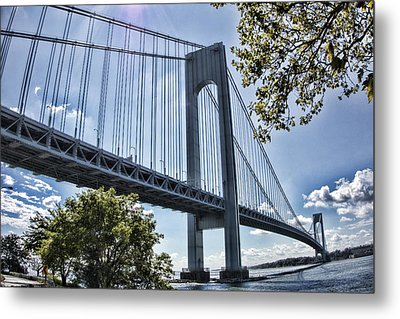 Verrazano Narrows Bridge Metal Print by Terry Cork