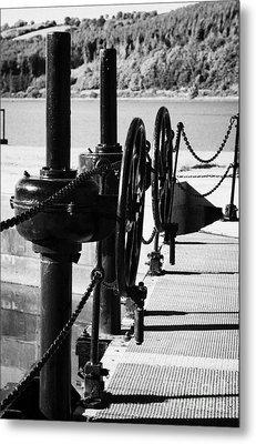 Vertical Newry Ship Canal Lock Gates And Controls At The Newly Refurbished Victoria Lock At Carlingford Lough Metal Print by Joe Fox