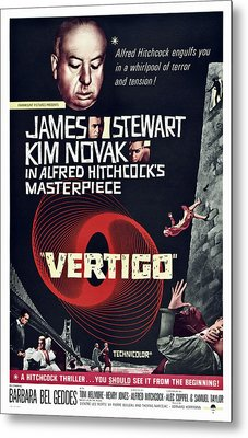 Vertigo, Us Poster Art, From Top Alfred Metal Print by Everett