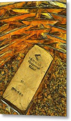 Very Beautiful Gold Ingots Metal Print by Teara Na