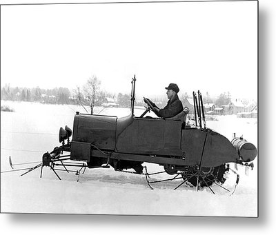 Very Early Snowmobile Metal Print by Underwood Archives