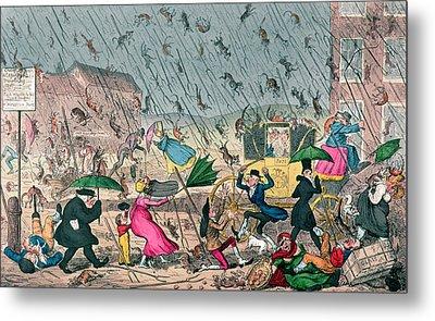 Very Unpleasant Weather Metal Print by George Cruikshank
